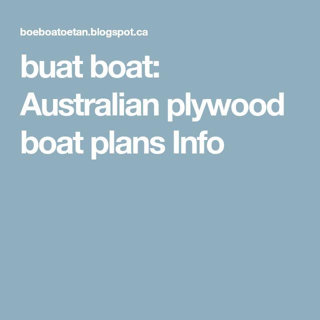 buat boat: Australian plywood boat plans Info