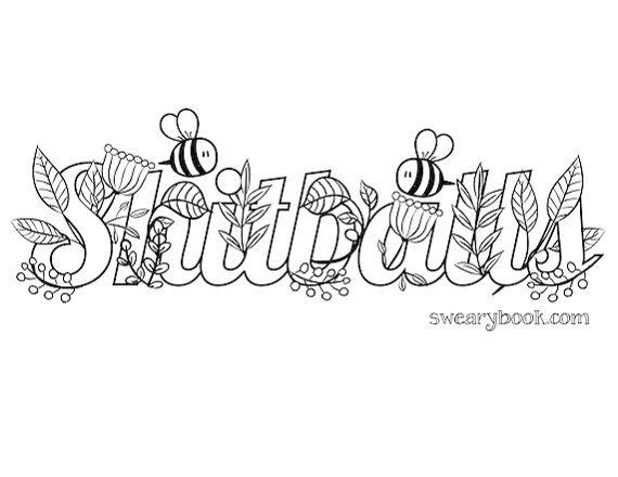 58 best Swear Words Coloring Pages images on Pinterest | Adult ...
