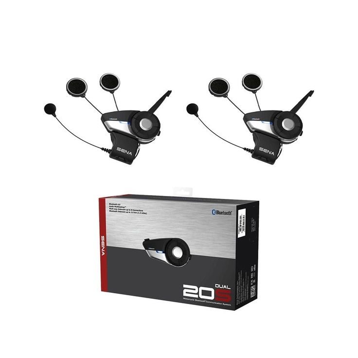 Sena Motorcycle 20S Unit  4.1 Bluetooth Communication System Dual Headset   #SENA