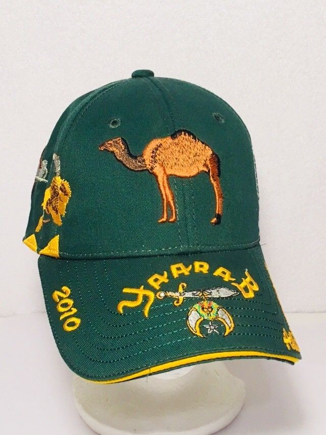 YAARAB Shrine Circus Embroidered Hat Adjustable Green Well