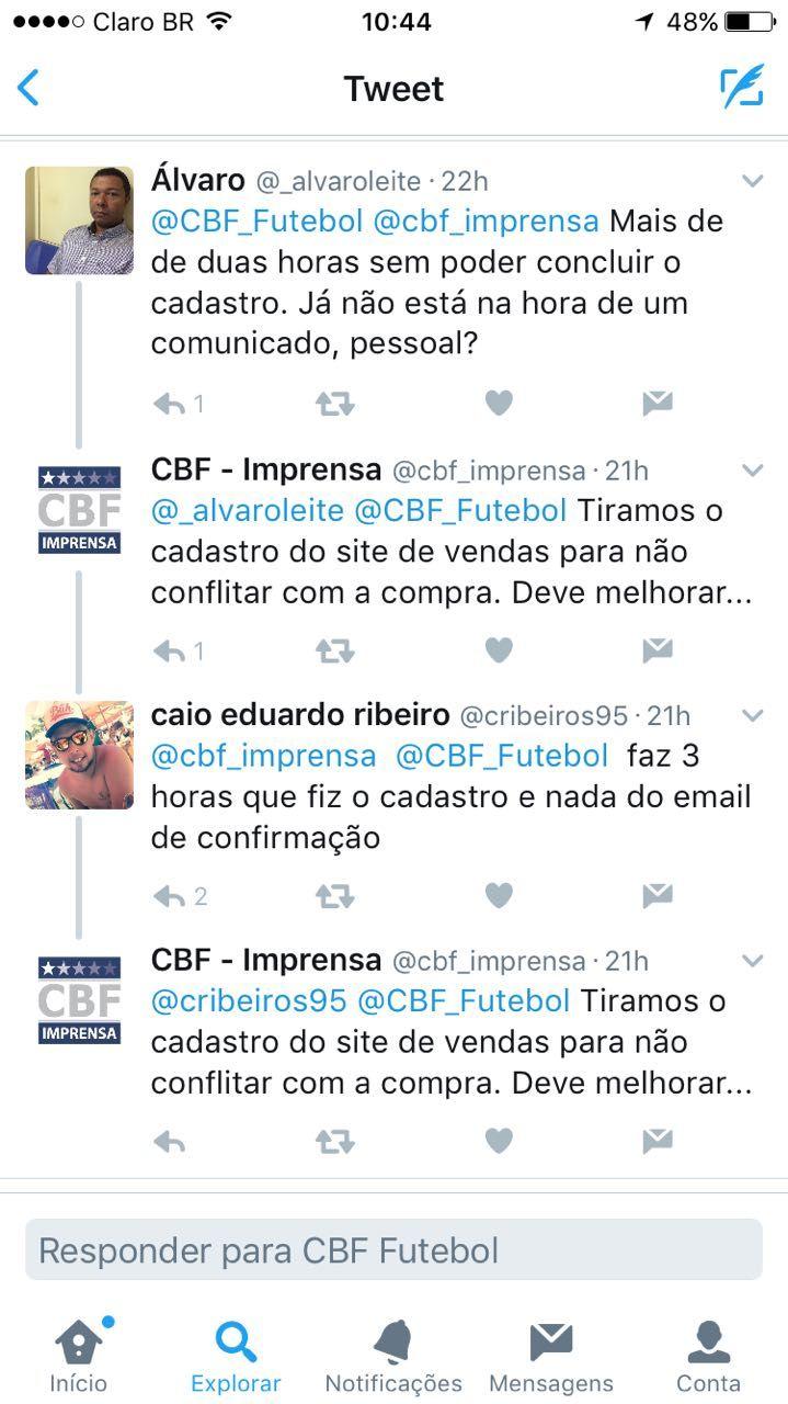 CBF reconhece problemas na venda de ingressos para Brasil x Paraguai #globoesporte