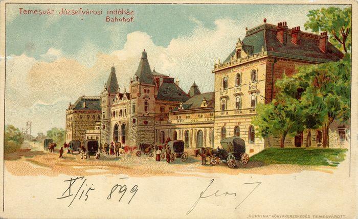 Timisoara - 1899 - Gara