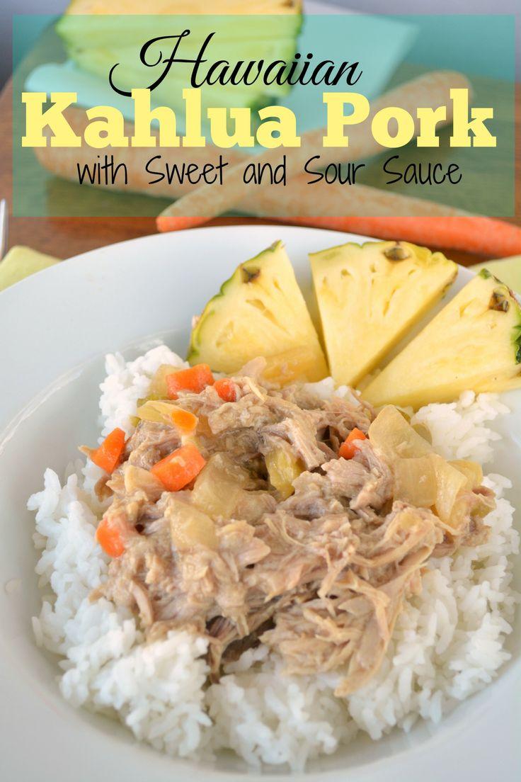 Hawaiian Kahlua Pork with Sweet and Sour Sauce