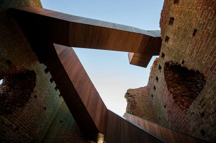The new Kalø Tower in Rønde, Denmark, gives visitors an unexpectedly intricate spatial experience inside a 700-year-old medieval ruin previously inaccessible...