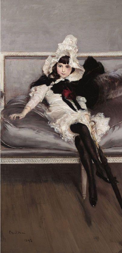 Giovanni Boldini, Portrait of Giovinetta Errazuriz, 1892.