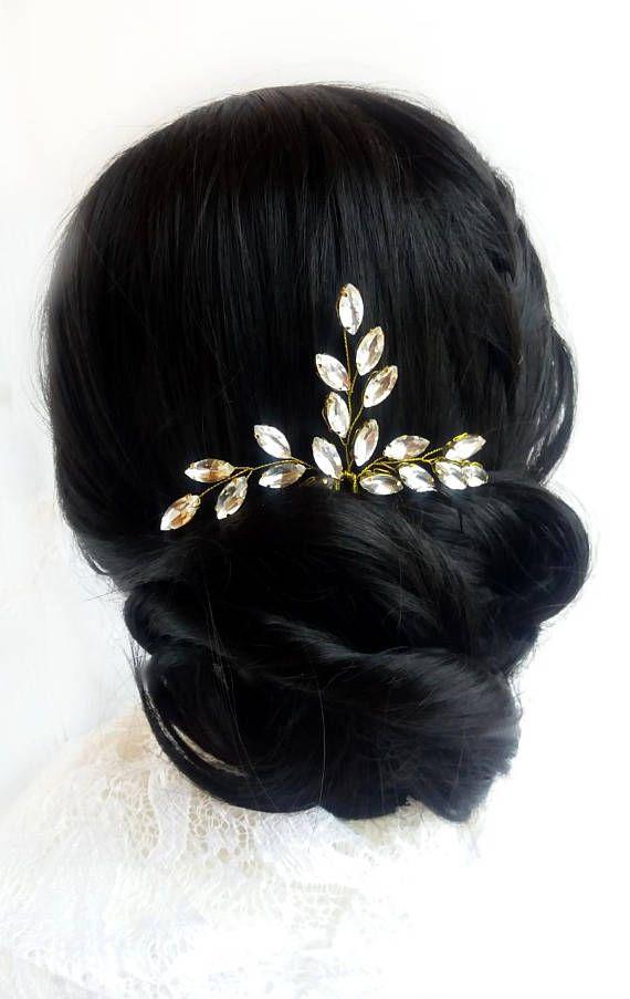 Crystal Bridal hair pins Wedding hair accessories #Crystal #Bridal #hairpins #Wedding #hair #accessories #Headpiece #Wedding #headband #Bridesmaids #Rhinestone  #Branch 27$
