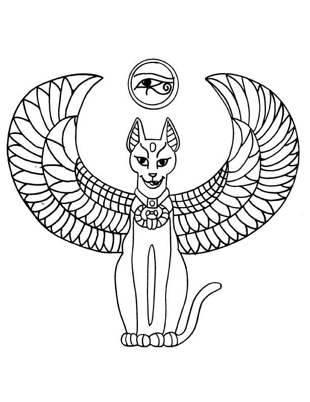 cat eye coloring pages-#20