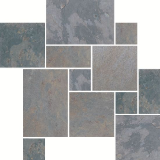 Indian multicolor versailles pattern slate and sandstone for Slate floor patterns