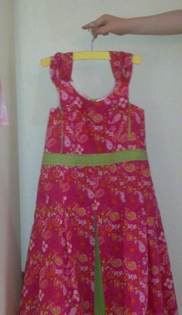 Voorkant chique jurk ~front of dress I made for my daughter