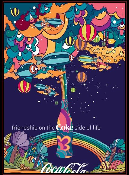 Peter Max Coke advertisement - 1970