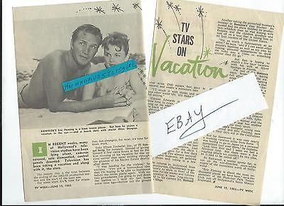 1963-COPY-ERIC-FLEMING-MAGAZINE-ARTICLE-ENTERS-STARS-ON-VACATION-OLIVE-STURGESS