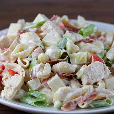 Chicken Bacon Ranch Pasta Salad Recipe