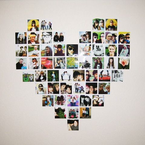 Heart shaped photo display or shaped like a 1 for Vivi's party favor pictures?