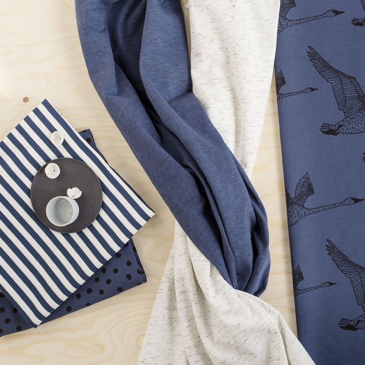 HIPPU, Blue-grey | Nosh.fi ENGLISH  | Get inspired by new NOSH fabrics for Summer 2017! Discover new colors and prints in quality organic cotton. Shop new fabrics at en.nosh.fi
