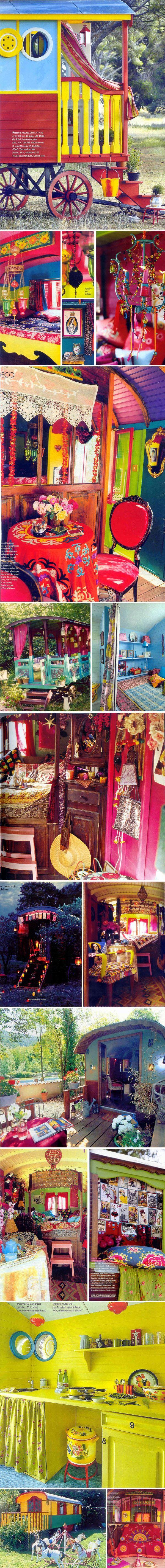 CaravansBoho Chic, Gypsy Style, Dreams, Gypsy Caravan, Colors Home, House, Gypsy Wagon, Small Spaces, Gypsy Life