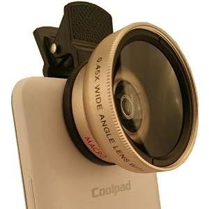 Bidafun Professional HD Camera Lens Kit for Cell Phone Gold (0.45x Super Wide Angle Lens 12.5x Super Macro Lens)