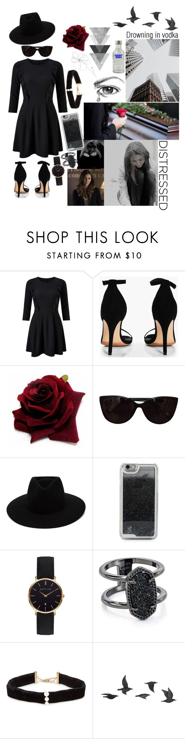 """Gabby dressed for Ivy's funeral"" by holly-jauregui ❤ liked on Polyvore featuring Miss Selfridge, Boohoo, Tiffany & Co., rag & bone, LMNT, Abbott Lyon, Kendra Scott, Anissa Kermiche, Jayson Home and Blume"