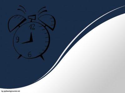 Clock Design PPT Backgrounds
