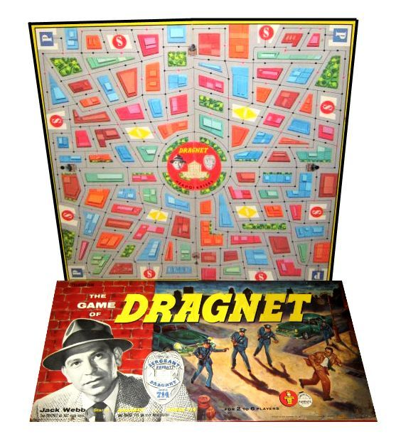 drangnet | BLiPPEE - Transogram Dragnet Board Game, vintage board game, retro ...