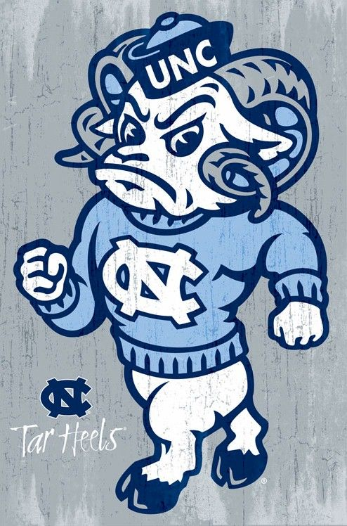 carolina tarheels | North Carolina Tar Heels Poster Ramses 22x34 NCAA University College ...