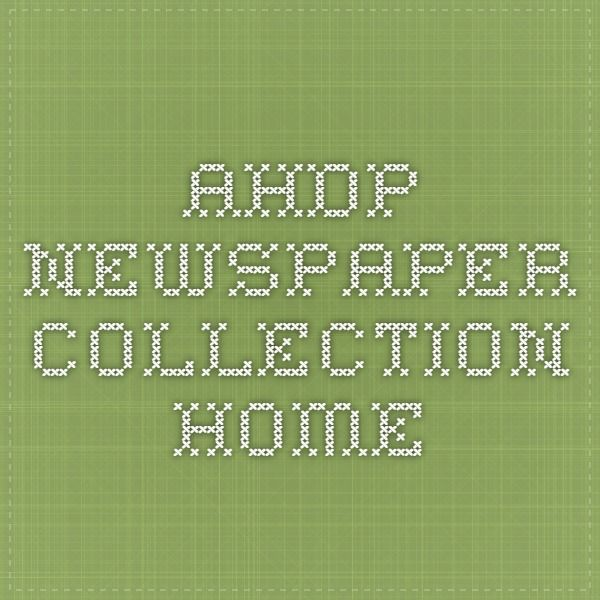 AHDP - Newspaper Collection Home