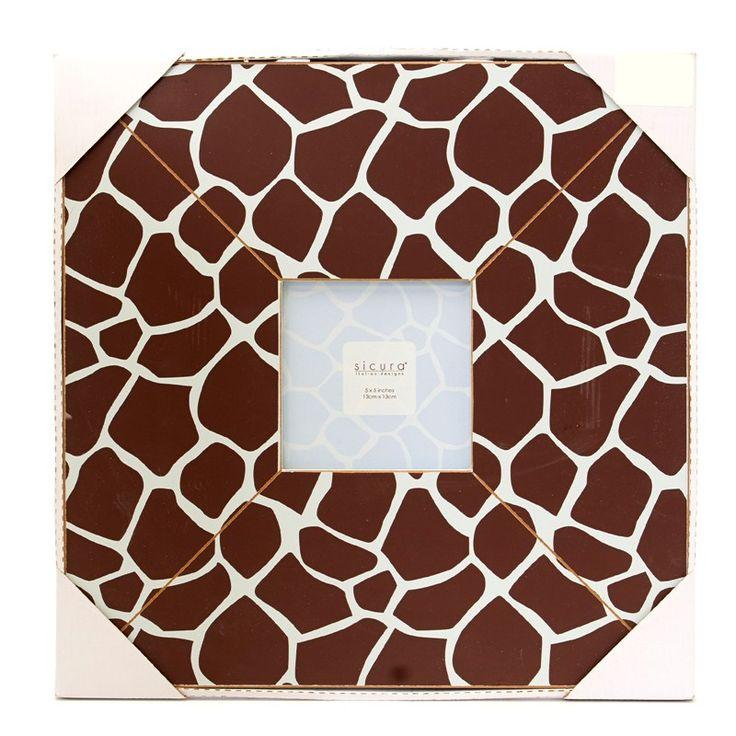 Giraffe Print Baby Picture Frame