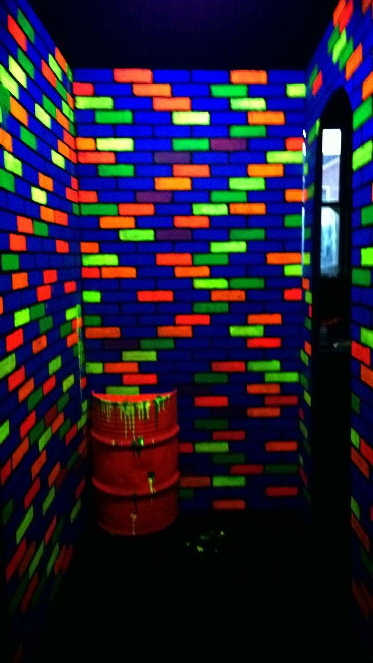 Fluorescent Wall Paint Splatter Paint Fluorescent Wall