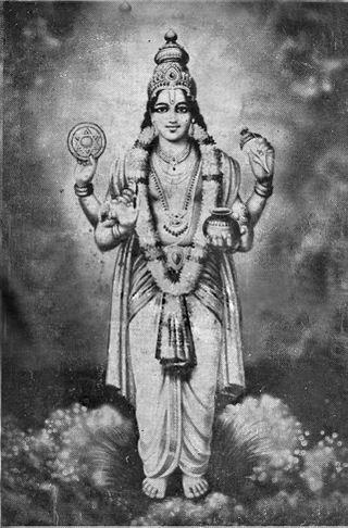 Dhanvantari, the Hindu god of Ayurveda, via Wikipedia
