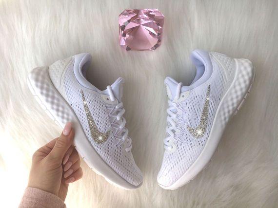 Swarovski Nike Lunar Skyelux Shoes Customized With Swarovski