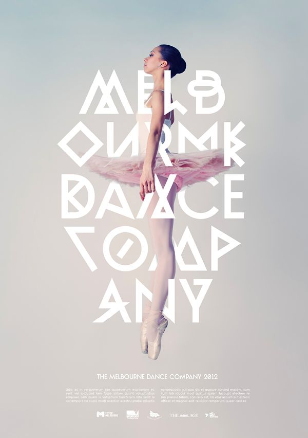 Melbourne Dance Company by Josip Kelava, via Behance: Poster Design, Types Poster, Typography Poster, Dance Company, Types Design, Graphics Design, Melbourne Dance, Branding Identity, Poster Typography