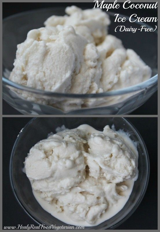 Having an ice cream maker is great, because I can make a fresh additive-free, processed sugar-free, dairy-free ice cream anytime!