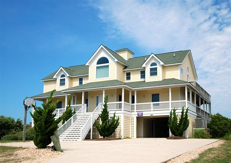 Twiddy Outer Banks Vacation Home Stella Rosa Corolla Oceanfront 7 Bedrooms 2011 Beach