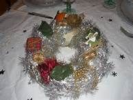 Christmas wrath to decorate the table Couronne de Noël