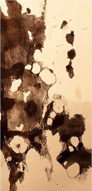 Gwen Hedley | Textile Study Group pen and ink study