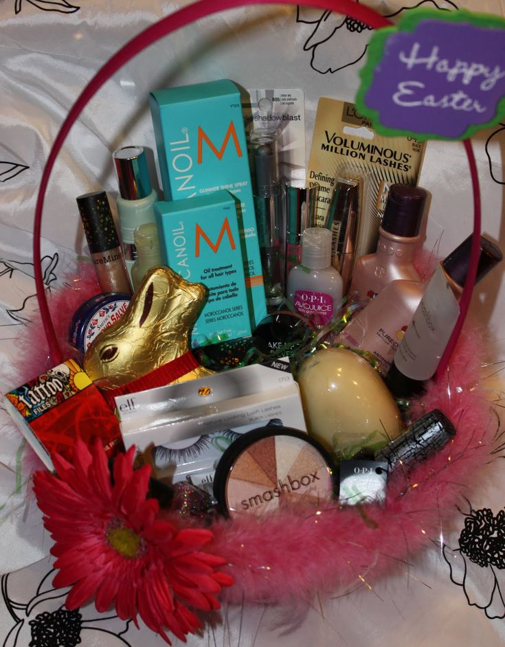 17 best images about easter basket ideas on pinterest easy gifts very great idea give your wife an easter basket with make up and chocolate negle Choice Image