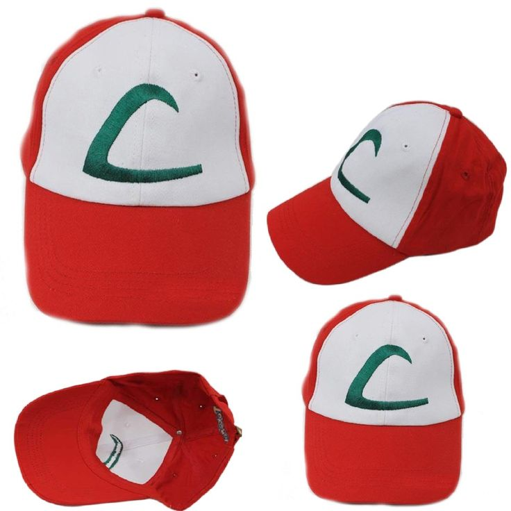 Pokemon Trainer Hat ASH KETCHUM CAP Embroidered Anime Kids Baseball Hat Cosplay #IcetekSports