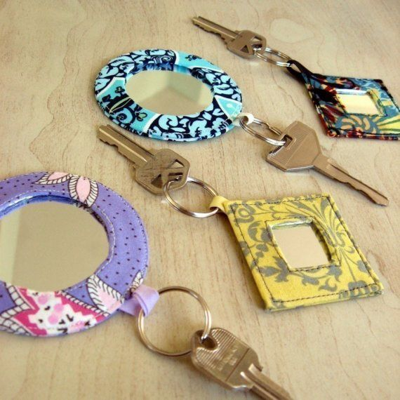 PDF Pocket Mirror Mirrored Keyrings sewing craft by StudioCherie, $6.99