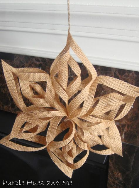 How to make Burlap 3D Snowflakes