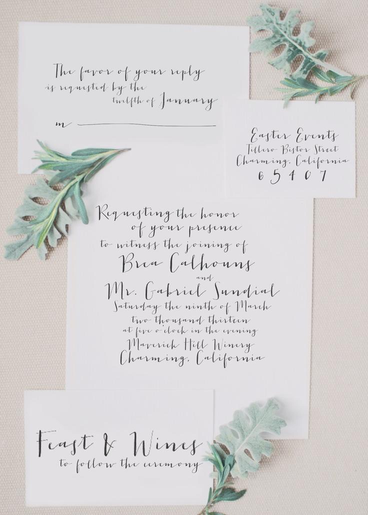 Best calligraphy invitation suites ideas on pinterest