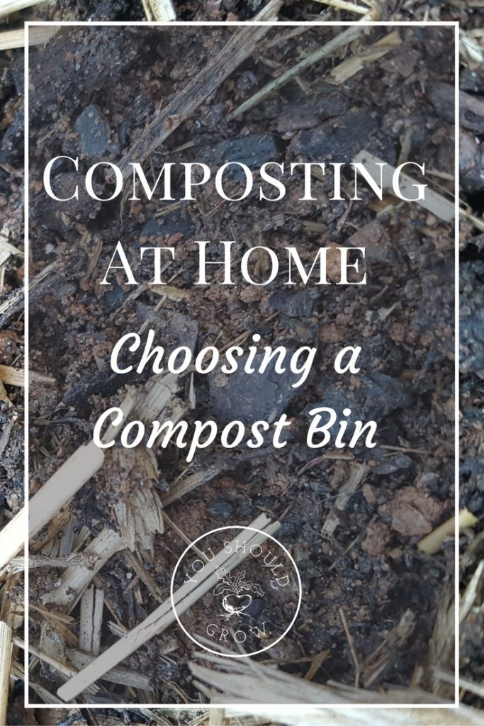 Choosing a compost bin for your home garden. What type of bin is right for your home? Learn about the types of compost bins, where to buy, and how to DIY. YouShouldGrow.com