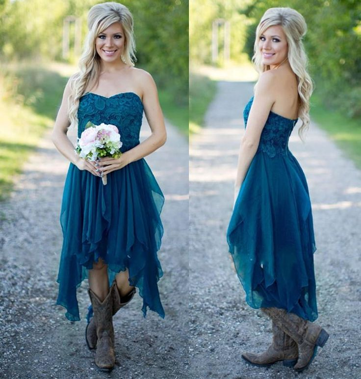 Country Western High Low Short Bridesmaid Dresses Chiffon Lace Casual Maid Of Honor For Wedding Under 100 Homecoming Party Prom Gowns A Line Clearance Bridesmaid Dresses Cool Bridesmaid Dresses From Lilliantan, $90.46| Dhgate.Com