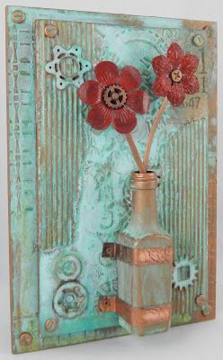 Whimsytouches: Industrial Vase Wall Hanging