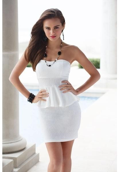 TEXTURED KNIT PEPLUM DRESS from Body Central || Get 5% cash back - http://www.studentrate.com/bu/get-bu-student-deals/Body-Central-Discounts--amp--Coupons--/0