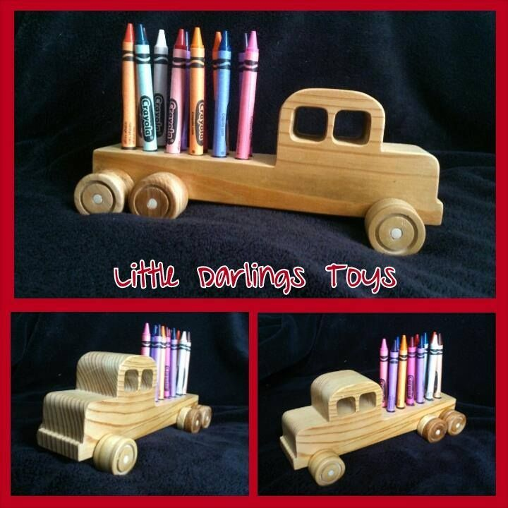 Handmade by David at Little Darlings Toys   Crayon Truck.  This cute truck is made from Pine and has a non toxic bees wax finish. It has rounded edges, so it's safe for little hands. It also comes with a pack of crayons. Playtime Fun Market Night opens at 9pm, on Tuesday 28th April, 2014
