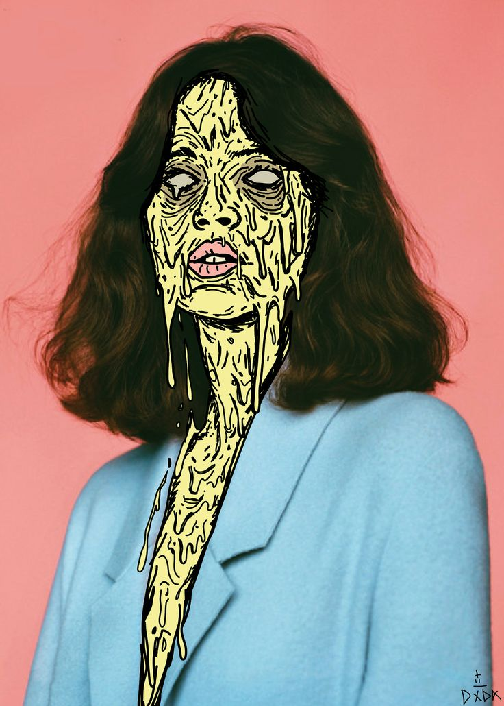 melting graphic illustration