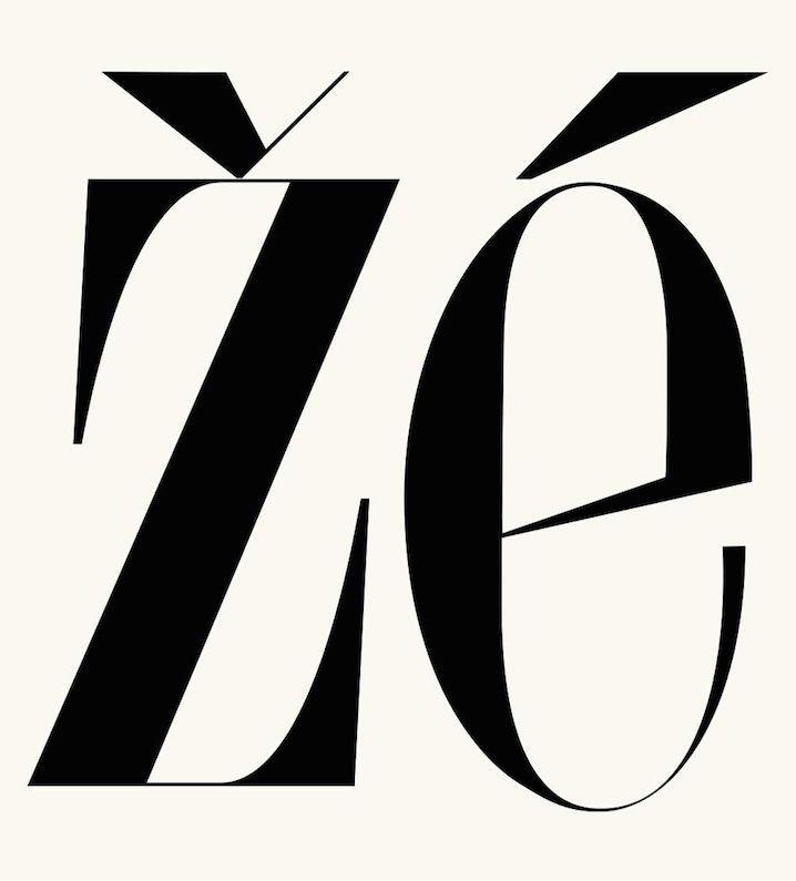 Žé / Typeface
