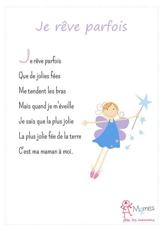poème fête des meres Je rêve parfois: