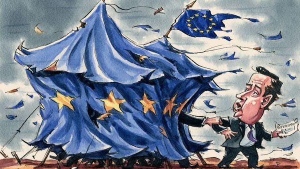 Illustration by Ingram Pinn depicting Brexit