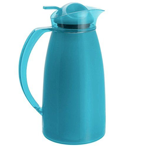 Auto One Handed Thermos Vacuum Flask 1�Litre) blue