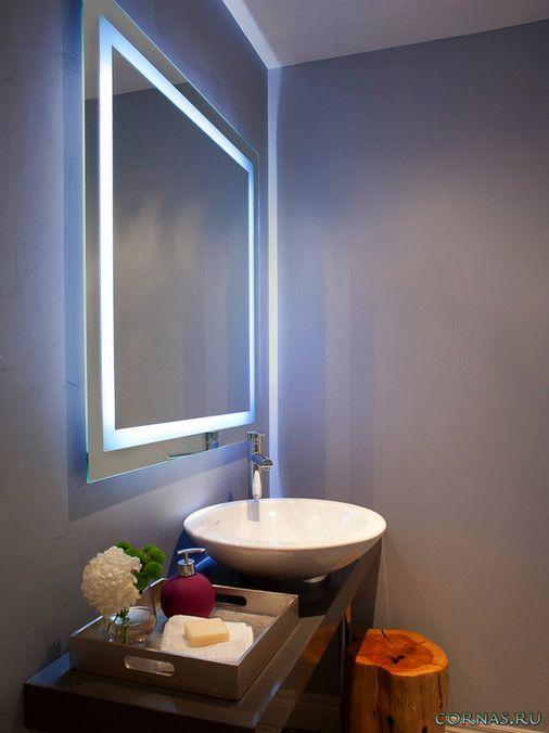 Освещение ванных комнат,красивые примеры оформления ванной комнаты при помощи света